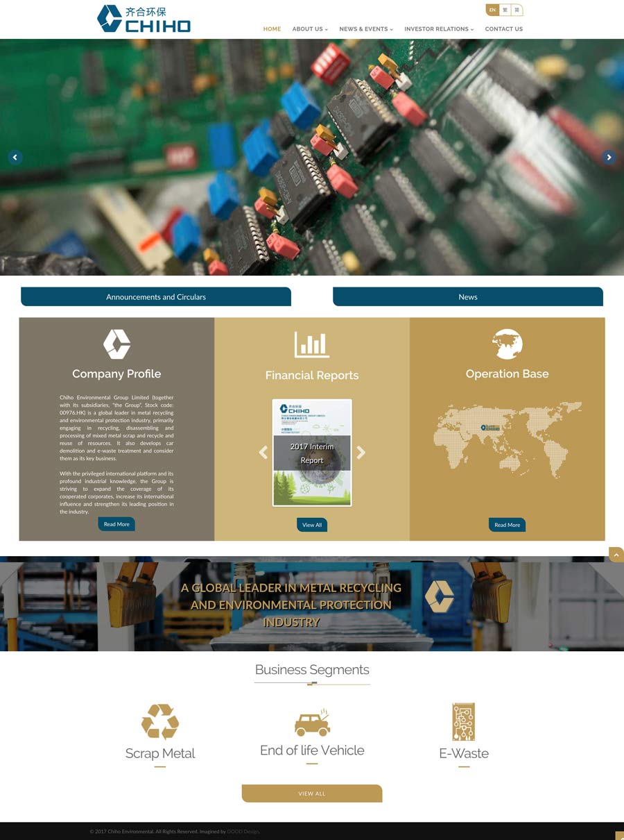 Chiho Group Homepage