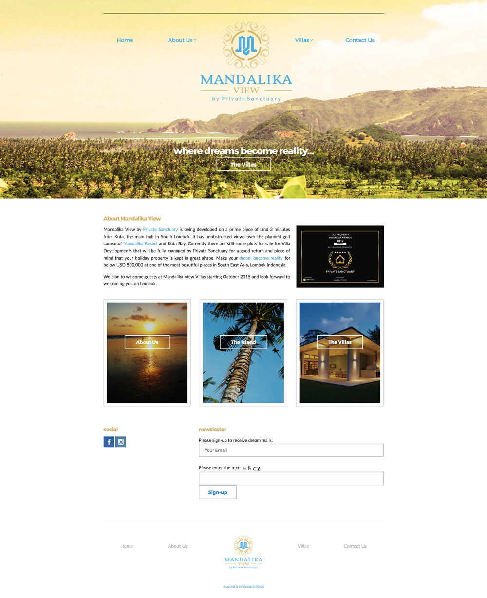 Mandalika View Homepage