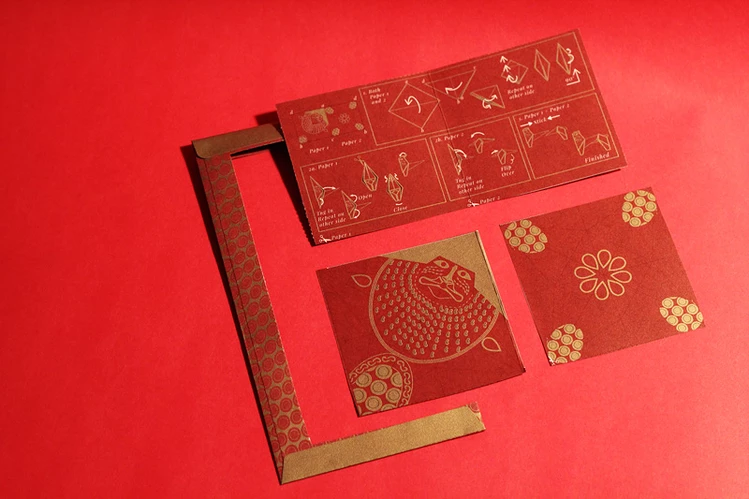 Mari-Cha Lion Origami Red Packets